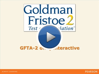 Training Video: GFTA-2 on Q-interactive